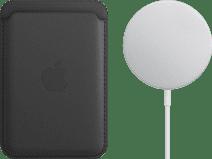 Apple Leren Kaarthouder voor iPhone met MagSafe Zwart + MagSafe Draadloze Oplader 15W