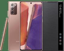 Samsung Galaxy Note 20 256GB Brons 5G + Samsung Clear View Book Case Zwart