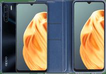 OPPO A91 128 GB Zwart + OPPO A91 Book Case Blauw