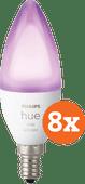 Philips Hue White and Color E14 Bluetooth Lot de 8