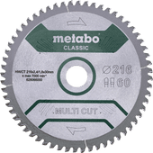 Metabo Multi Cut Zaagblad Universeel 216x30x1,8mm 60T