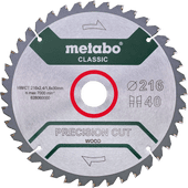 Metabo Precision Cut Wood Zaagblad voor Hout 216x30X1,8mm 40T