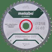 Metabo Lame de Scie Precision Cut Wood 216 x 30 x 1,8 mm 40D