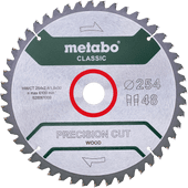 Metabo Zaagblad Precision Cut Wood 254x30x1,8mm 48 T