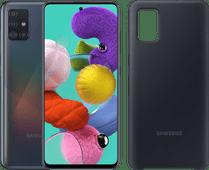 Samsung Galaxy A51 128GB Zwart + Samsung Galaxy A51 Silicone Back Cover Zwart