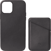 Decoded Apple iPhone 12 / 12 Pro Back Cover MagSafe Magneet Leer Zwart + Leren Kaarthouder
