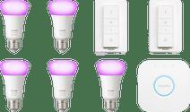 Philips Hue White & Colour Starter 5-Pack E27 + 2 dimmers