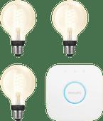 Philips Hue Filamentlamp White Globe E27 Bluetooth Starter 3-pack