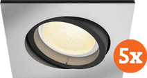 Philips Hue Centura Inbouwspot White & Colour vierkant aluminium 5-Pack
