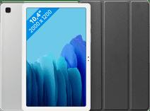 Samsung Galaxy Tab A7 32 Go Wifi Argent + Just in Case Book Case Noir