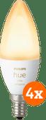Philips Hue White Ambiance E14 Bluetooth Lot de 4