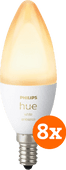 Philips Hue White Ambiance E14 Bluetooth 8-Pack