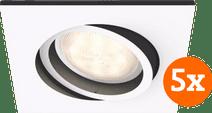 Philips Hue Milliskin inbouwspot White Ambiance Wit - vierkant 5-Pack
