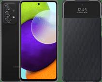 Samsung Galaxy A52 128GB Zwart 4G + Samsung Smart S View Wallet Cover Zwart