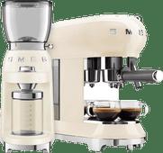 SMEG ECF01CREU Crème + Koffiemolen SMEG koffiezetapparaten