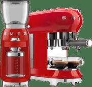 SMEG ECF01RDEU Rouge + Moulin à Café
