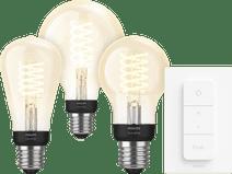 Philips Hue Filamentlamp White E27 Bluetooth 3-Pack + Dimmer