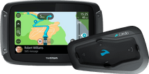 TomTom Rider 50 WE Zwart + Cardo Scala Rider Freecom 2 Plus Single
