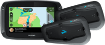 TomTom Rider 50 WE Zwart + Cardo Scala Rider Freecom 2 Plus Duo