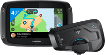 TomTom Rider 500 Europa + Cardo Scala Rider Freecom 4 Plus Single