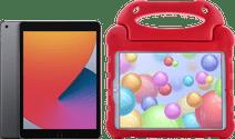 Apple iPad (2020) 128GB WiFi Space Gray + Kids Cover Red