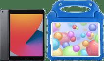 Apple iPad (2020) 128 Go Wi-Fi Gris Sidéral + Étui Enfants Bleu
