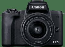Canon EOS M50 Mark II Zwart + 15-45mm IS STM Zwart + 55-200mm IS STM Zwart