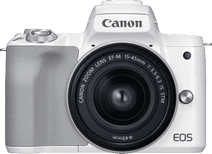 Canon EOS M50 Mark II Wit + EF-M 15-45mm f/3.5-6.3 IS STM Wit