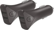 BlueBuilt Autolader zonder Kabel 2 Usb Poorten 12W Duo Pack
