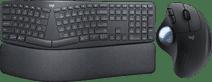 Logitech K860 + Logitech M575 ERGO Trackball Muis