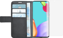 Azuri Wallet Samsung Galaxy A52 Book Case Zwart + Azuri Tempered Glass Screenprotector