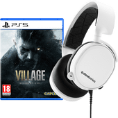 Resident Evil Village PS5 + SteelSeries Arctis 3 2019 Wit