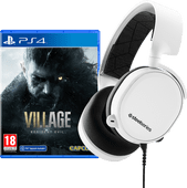 Resident Evil Village PS4 + SteelSeries Arctis 3 2019 Wit