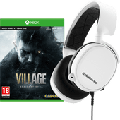 Resident Evil Village Xbox One en Xbox Series X+ SteelSeries Arctis 3 2019 Wit