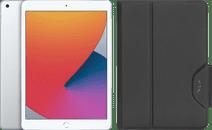 Apple iPad (2020) 10.2 inches 32GB WiFi Silver + Targus VersaVu Book Case Black