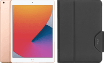 Apple iPad (2020) 10.2 inches 32 GB WiFi Gold + Targus VersaVu Book Case Black