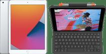 Apple iPad (2020) 10.2 inches 32GB WiFi Silver + Logitech Keyboard Cover AZERTY