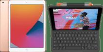 Apple iPad (2020) 10.2 inches 32GB WiFi Gold + Logitech Keyboard Cover AZERTY