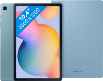 Samsung Galaxy Tab S6 Lite 128GB Wifi + 4G Blauw + Samsung Book Case Blauw
