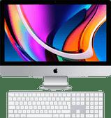 """Apple iMac 27"""" (2020) MXWV2FN/A + Magic Keyboard met numeriek toetsenblok AZERTY"""