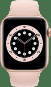 Apple Watch Series 6 4G 44mm Goud Aluminium Roze Sportband