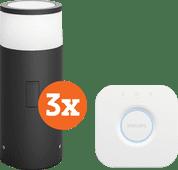Philips Hue Calla Sokkellamp Buiten Starter 3-pack