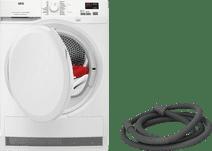 AEG T7DBK86PZ + BlueBuilt condensation drain hose (BE)