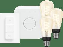Philips Hue Decoratieve Edisonlamp Warmwit Licht E27 Bluetooth 3-Pack Startpakket