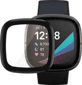 PanzerGlass Fitbit Sense, Versa 3 Screenprotector Glas Zwart