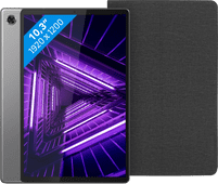 Lenovo Smart Tab M10 Plus (2de generatie) 128 GB Wifi Grijs + Lenovo Book Case Zwart