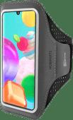 Mobiparts Comfort Fit Sportarmband Samsung Galaxy A41 Zwart