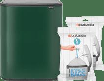 Brabantia Bo Touch Bin 2 x 30 Liter Groen + Vuilniszakken (80 stuks)
