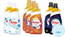 Robijn Klein & Krachtig Color, Stralend Wit en Black Velvet Wasmiddel - Jaarpakket