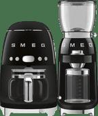 SMEG DCF02BLEU Zwart + Koffiemolen
